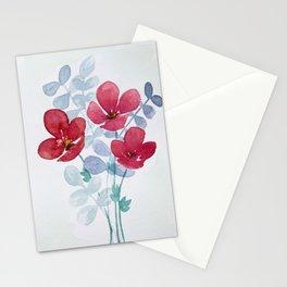 Meraki Poppies  Stationery Cards