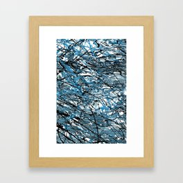 Teal Chaos Abstract Expressionism Art Framed Art Print