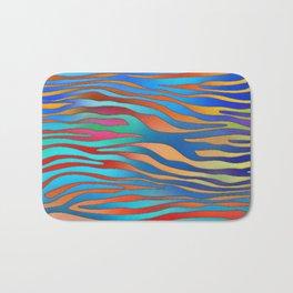 Colored Zebra Pattern Bath Mat
