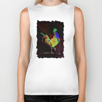 rooster Biker Tanks featuring ROOSTER by mimulux