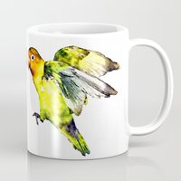 parrot Mugs featuring Parrot by cmphotography
