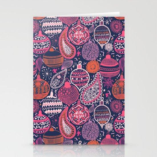 Bohemian Christmas Stationery Cards