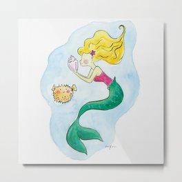 Mermaid under the sea Metal Print