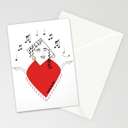 musical mom Stationery Cards