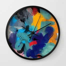Abstract Expressionism Art Colourful Pattern Wall Clock