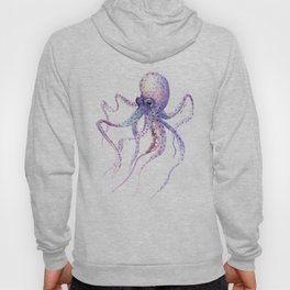 Octopus, soft purple pink aquatic animal design Hoody