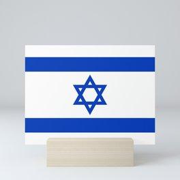 Israeli Flag of Israel Mini Art Print