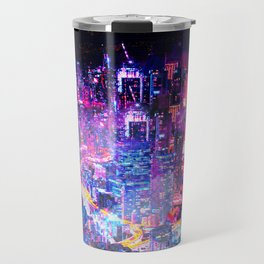 Cyberpunk City Travel Mug