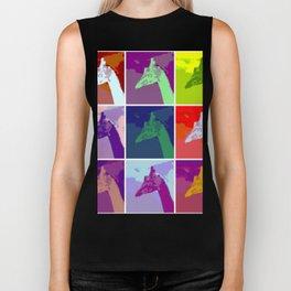 Everyone Loves Giraffes - Abstract Art Biker Tank