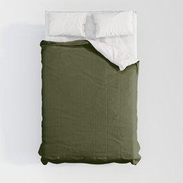 CHIVE dark green solid color Comforters