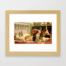 """Alexandre Cabanel """"Cleopatra Testing Poisons on Condemned Prisoners"""" Framed Art Print"""