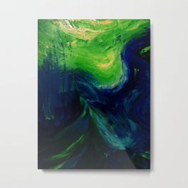 Abstract Hurricane by Robert S. Lee Metal Print