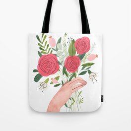 Hand bouquet Tote Bag