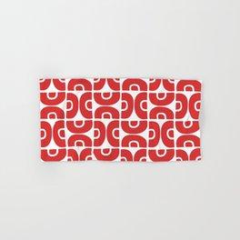 Groovy Mid Century Modern Pattern Red Hand & Bath Towel