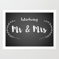 Introducing Mr and Mrs Art Print