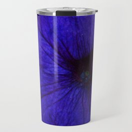 Blue Petunia Flower Macro Watercolor Travel Mug