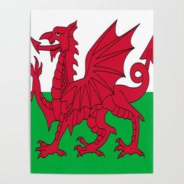 Flag of Wales,uk,great britain,dragon,cymru, welsh,celtic,cymry,cardiff,new port Poster