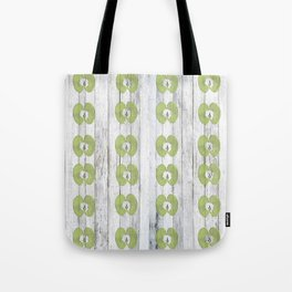 White Wood Apples Tote Bag