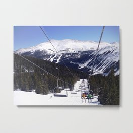 entry to the slopes Metal Print