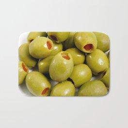 Green olives Bath Mat