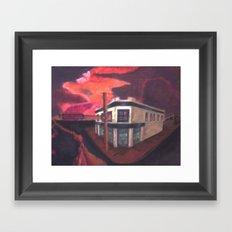 Edge of the cliffs Framed Art Print