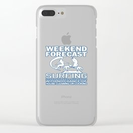 WEEKEND FORECAST SURFING Clear iPhone Case