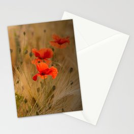 Golden cornfield with poppies Stationery Cards