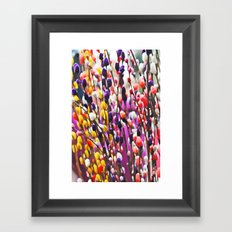 Abstract Pussy Willows Framed Art Print