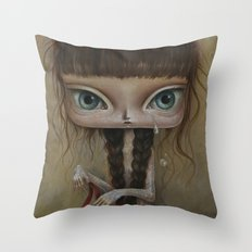 Girl with tattoo 2 Throw Pillow