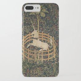 The Unicorn in Captivity (from the Unicorn Tapestries) iPhone Case