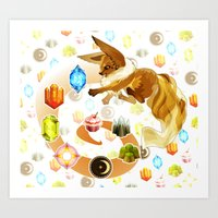 eevee Art Prints featuring Eevee by Katie O'Meara