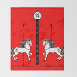 Chinese New Year of the Horse Throw Blanket