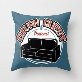 DivanQuest (grunge) Throw Pillow