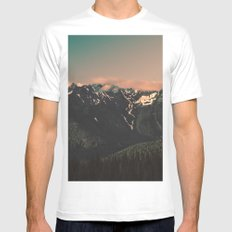 Good Morning, Cascadia White Mens Fitted Tee SMALL