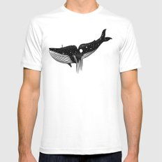 Uncertain Journey LARGE White Mens Fitted Tee