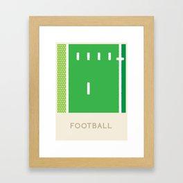 Football (Sports Surfaces Series, No. 10) Framed Art Print