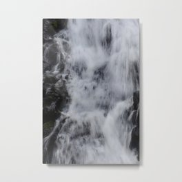 Waterfall Pareidolia Metal Print
