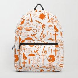 Buffy Symbology, Orange Backpack