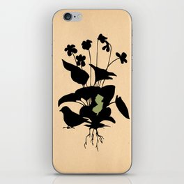 New Jersey - State Papercut Print iPhone Skin