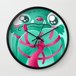 Monster's First Day At Work Wall Clock