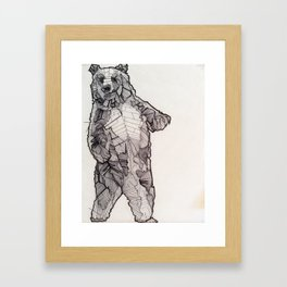 Huskily Bear Framed Art Print