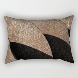Rusted Disker Plow Light and Shadow Abstract Rectangular Pillow