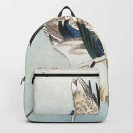 Mallard and Snow-covered Reeds Backpack