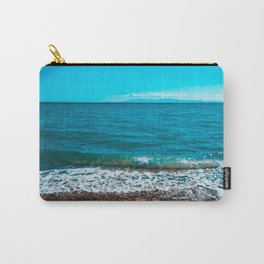 Blue sea at Greece with stony beach Carry-All Pouch