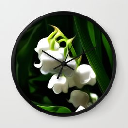 Painted Lily-of-the-Valley Wall Clock
