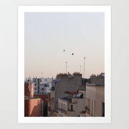 roofs in Paris Art Print