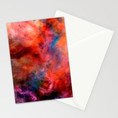 Colorful Nebula Abstract Stationery Cards