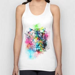 colorful tiger Unisex Tank Top