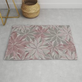 Layered Florals in Rose Shades Rug