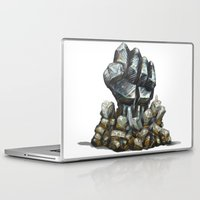 minerals Laptop & iPad Skins featuring Minerals and rocks by YISHAII